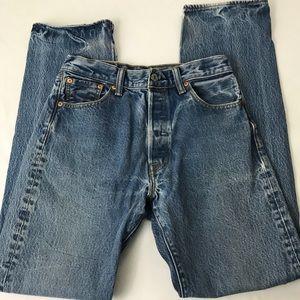 Levi's 501 High Waist Mom Jeans Straight Leg
